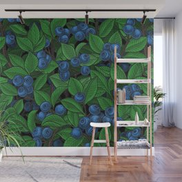 Blueberry Wall Mural