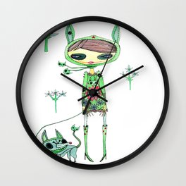 punk gree Wall Clock