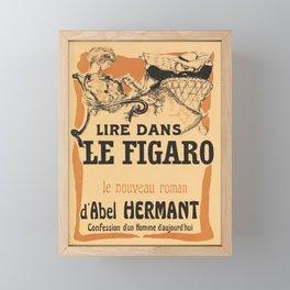 lire dans le figaro. 1903  Affiche Framed Mini Art Print