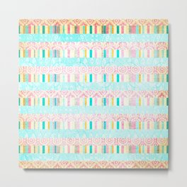 Stripes mix for little girl Metal Print