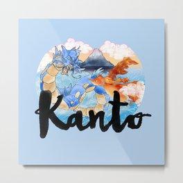 Kanto Metal Print