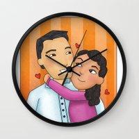 dad Wall Clocks featuring dad by Grisi Fernandez Minor