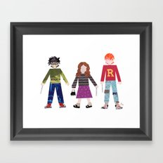 Harry, Hermione, and Ron Framed Art Print