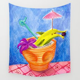 Tiki Drink no.2 with banana dolphin Wall Tapestry