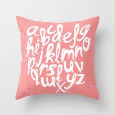 CORAL ALPHABET Throw Pillow