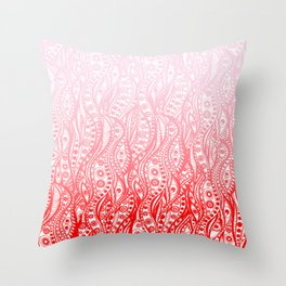 Distorted Dream Print (Pink/Red) Throw Pillow