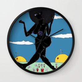 2017 SUN LOVES BLACK art by Marcellous Lovelace Wall Clock