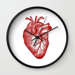 Vintage Heart Anatomy Wall Clock
