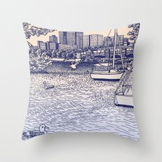 Charles River Esplanade Throw Pillow
