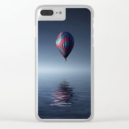 Hot Air Balloon Reflection Clear iPhone Case
