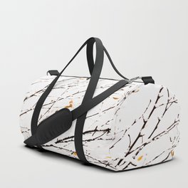 Snowy birch twigs and leaves #society6 #decor #buyart Duffle Bag