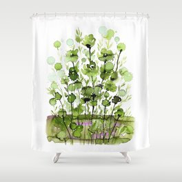 Floral Charm No.1I by Kathy Morton Stanion Shower Curtain