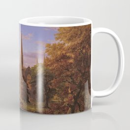 The Return Home medieval forest cathedral landscape painting by Thomas Cole Coffee Mug