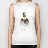 magritte Biker Tanks featuring this is not a magritte by berg with ice