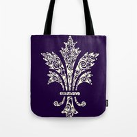royal Tote Bags featuring Royal by Candace Fowler Ink&Co.