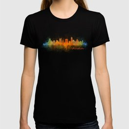 Austin Texas, City Skyline, watercolor  Cityscape Hq v3 T-shirt