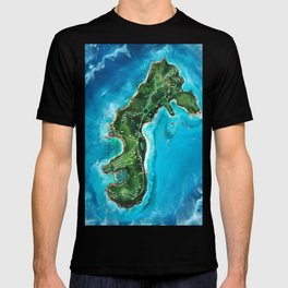 Water Island Map T-shirt