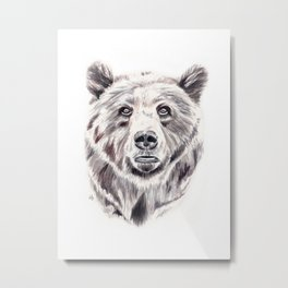 Hi Bear! Metal Print