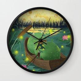 Frog love Wall Clock