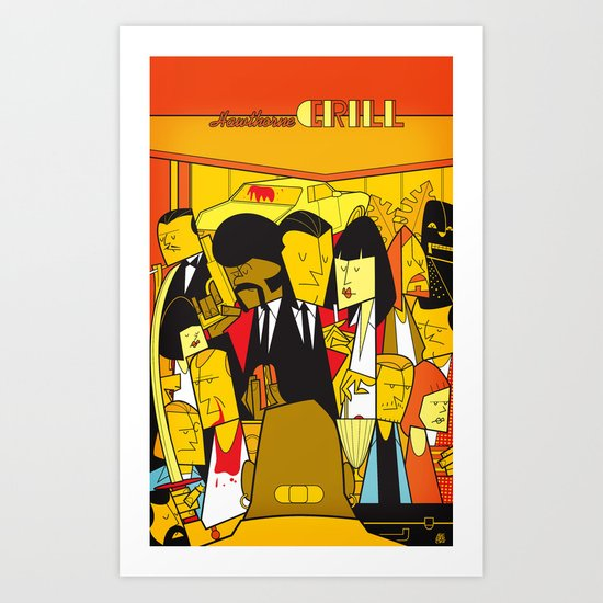 Pulp Fiction (variant aspect ratio) Art Print