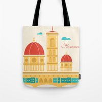 florence Tote Bags featuring Florence by Marina Design