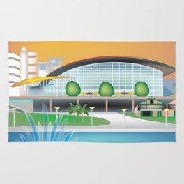 Adelaide, Australia - Skyline Illustration by Loose Petals Rug