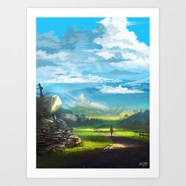 Road to the Promised Dream Art Print