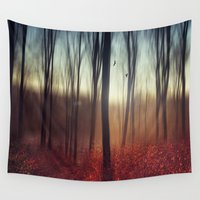 the lights Wall Tapestries featuring Crying Lights by Dirk Wuestenhagen Imagery