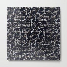 fashion black and white mood Metal Print