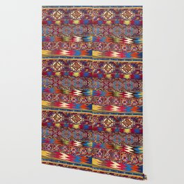 Kurdish  Antique Turkish Tribal Cuval Wallpaper
