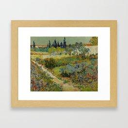 Garden at Arles Framed Art Print