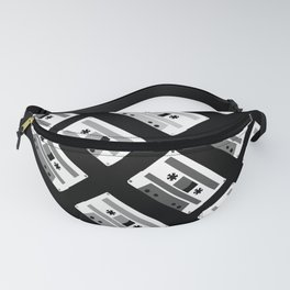Black and White Tapes 45 Fanny Pack