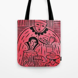 The Sign Holders - Black and Red Tote Bag