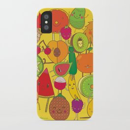 Veggies Fruits iPhone Case