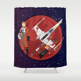 X-WING dissect #2 Shower Curtain