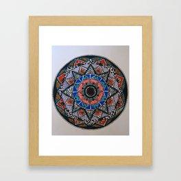 Vintage pattern art color Framed Art Print