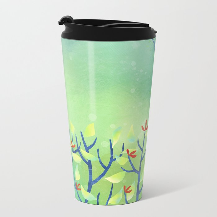 April Metal Travel Mug