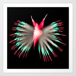 Shimmering Butterfly Art Print