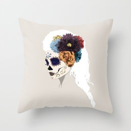 Versailles Skull Throw Pillow