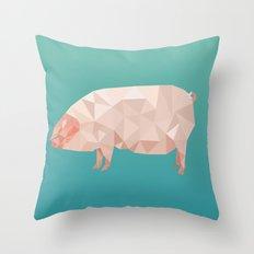Geometric Pig Throw Pillow
