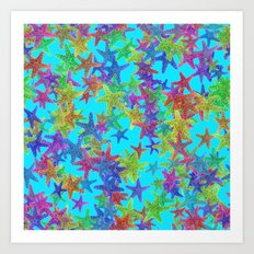 Starfish Parade Art Print