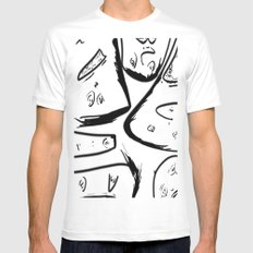 The Gallery White Mens Fitted Tee MEDIUM