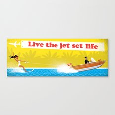 Live The Jet Set Life! Canvas Print