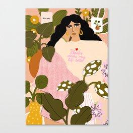 Plants Make My Life better Canvas Print