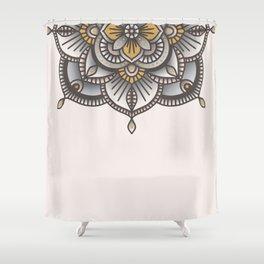 Mandala Beige Shower Curtain