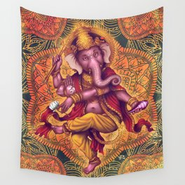 Ganesha (Color Variation 2) Wall Tapestry