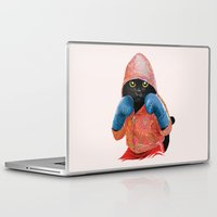 jazzberry Laptop & iPad Skins featuring Boxing Cat 2  by Tummeow