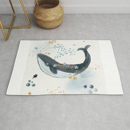 Whale, Stars, Blue Whale, Big Whale, Ocean, Beauty, Save The Whale, Happy Whale, Adventure Rug