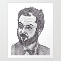 stanley kubrick Art Prints featuring Stanley Kubrick by jamestomgray