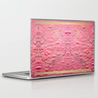 toilet Laptop & iPad Skins featuring Smile on a pink toilet paper by Art Pass
